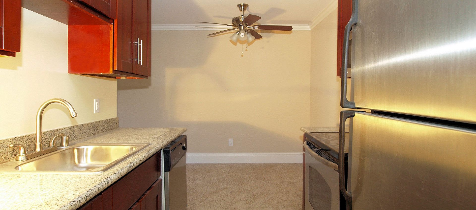 Kitchen at Regency Plaza Apartment Homes in Martinez, CA