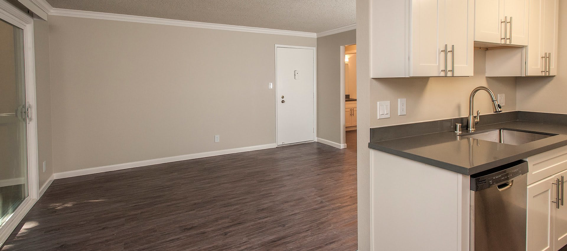 Living and Kitchen at Regency Plaza Apartment Homes