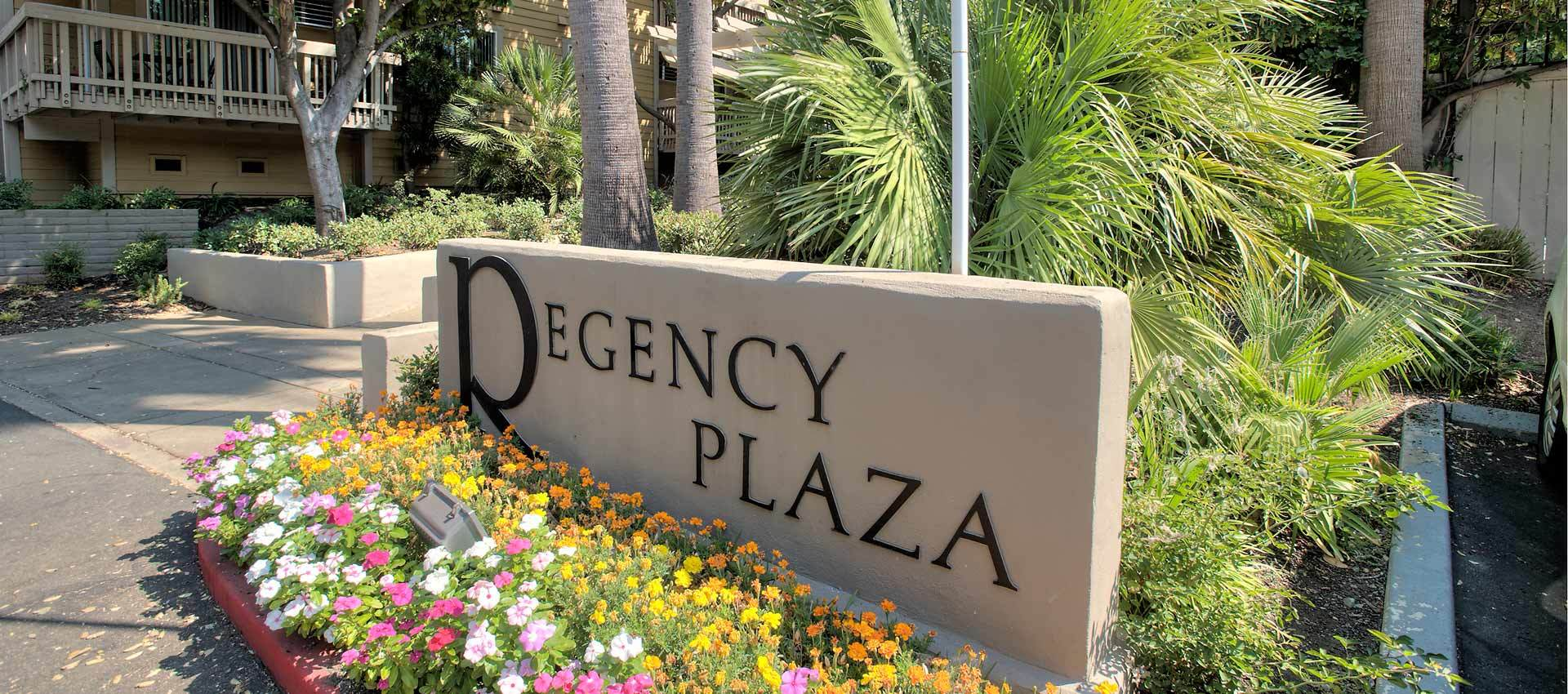 Signage at Regency Plaza Apartment Homes in Martinez, CA