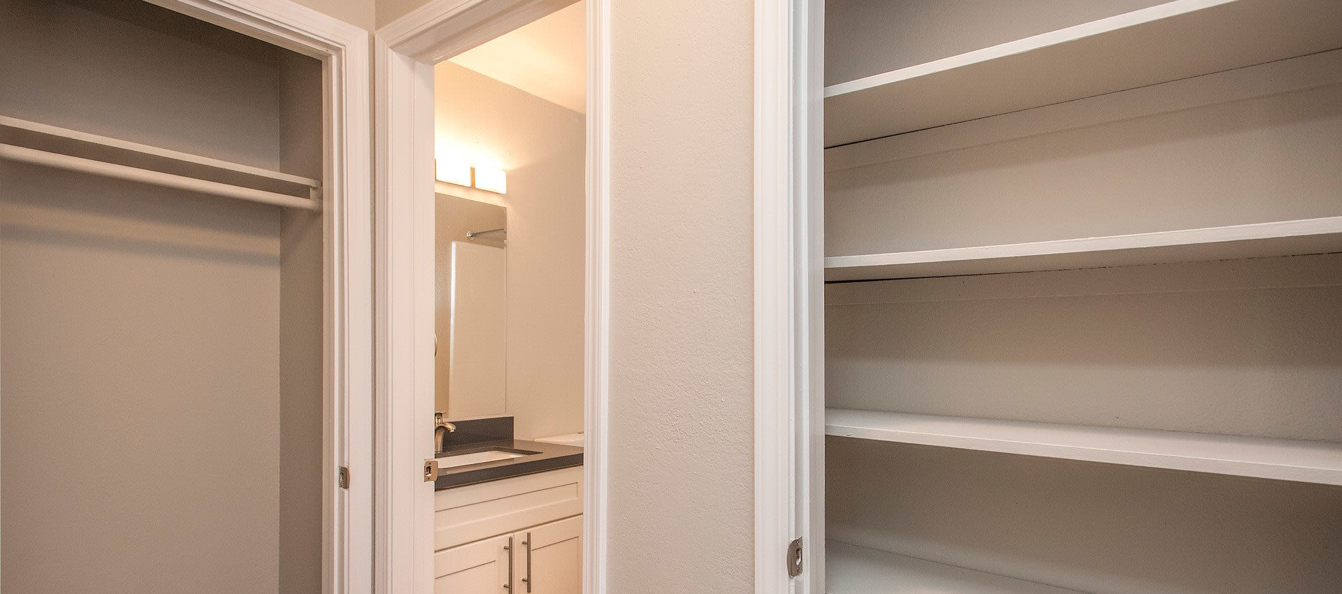Storage and Bath at Regency Plaza Apartment Homes
