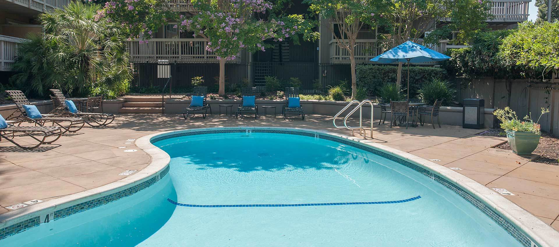 Pool Area at apartments in Martinez, CA