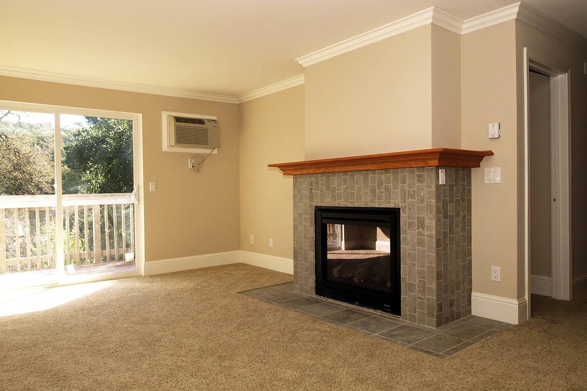 Fireplace at apartments in Martinez