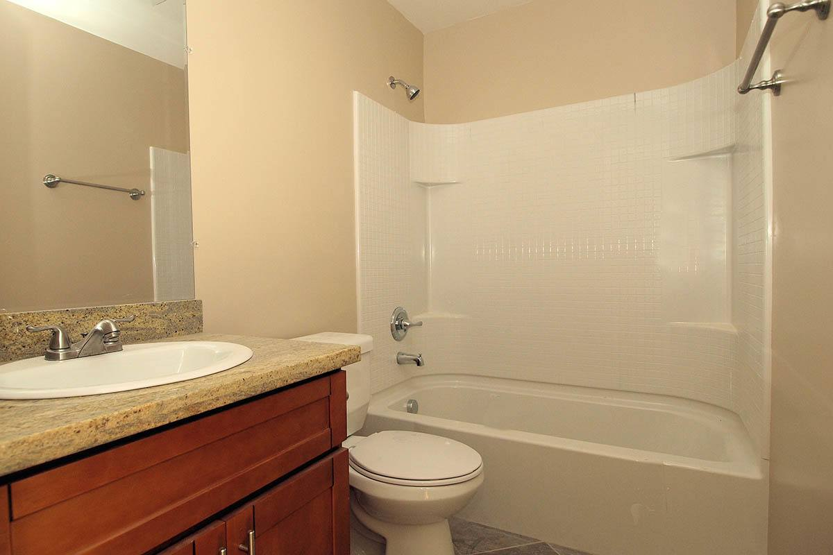 Bathroom floor plan layout at Regency Plaza Apartment Homes