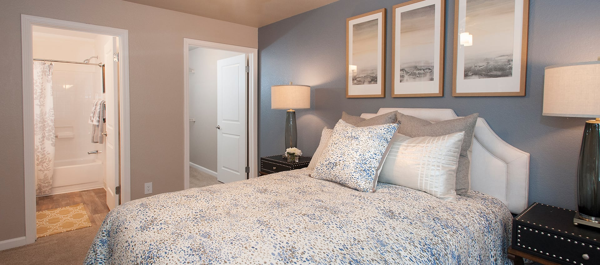 Bedroom at Reserve at Capital Center Apartment Homes in Rancho Cordova, CA