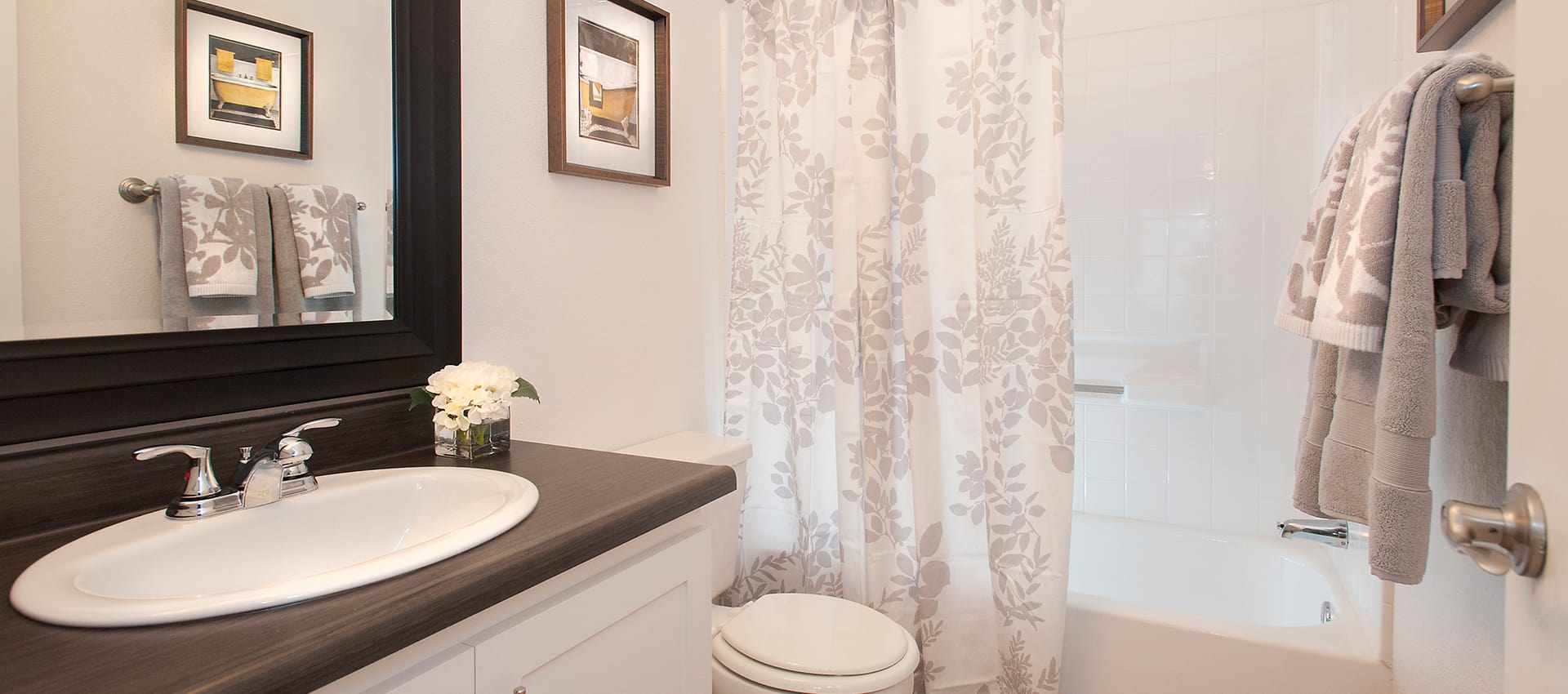 Bathroom at Reserve at Capital Center Apartment Homes in Rancho Cordova, CA