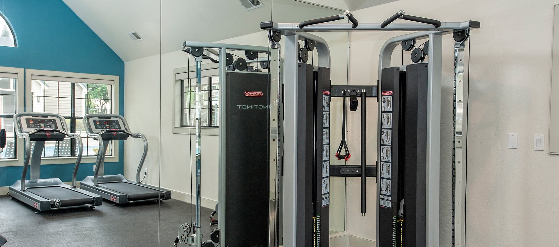 Fitness machines at Reserve at Capital Center Apartment Homes in Rancho Cordova, CA