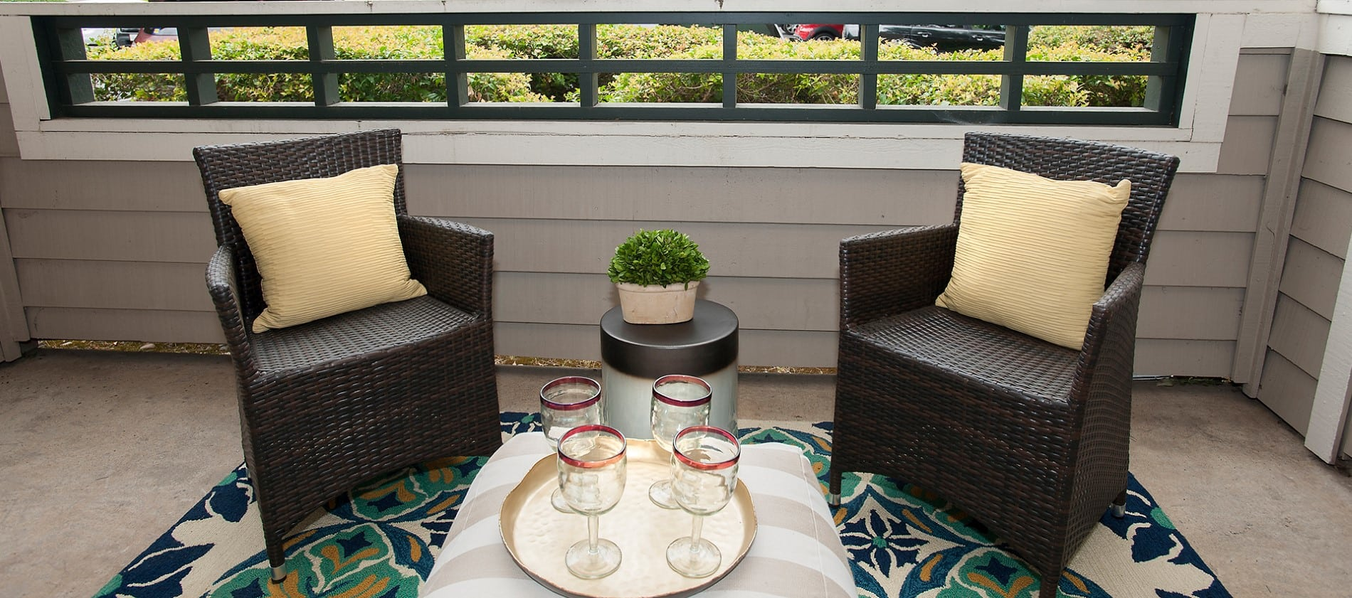 Patio at Reserve at Capital Center Apartment Homes in Rancho Cordova, CA