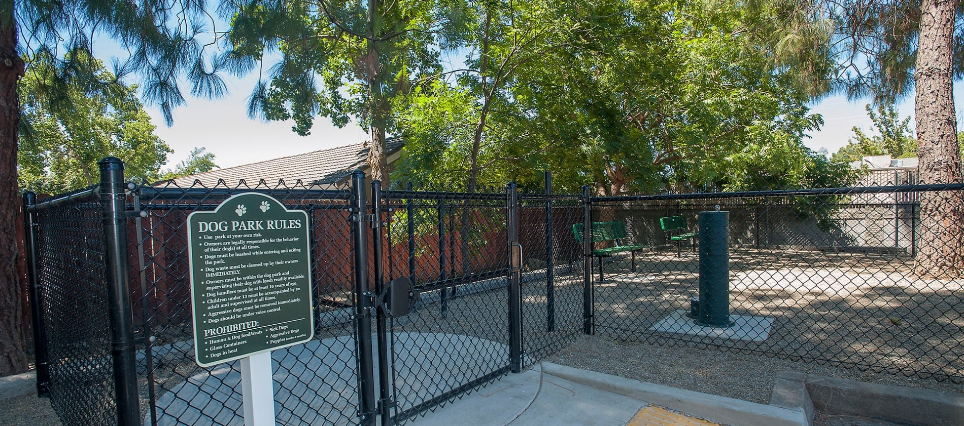 Dog park at Reserve at Capital Center Apartment Homes in Rancho Cordova, CA
