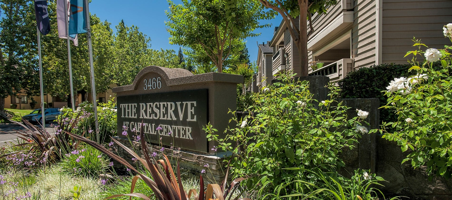 Signage at Reserve at Capital Center Apartment Homes in Rancho Cordova, CA