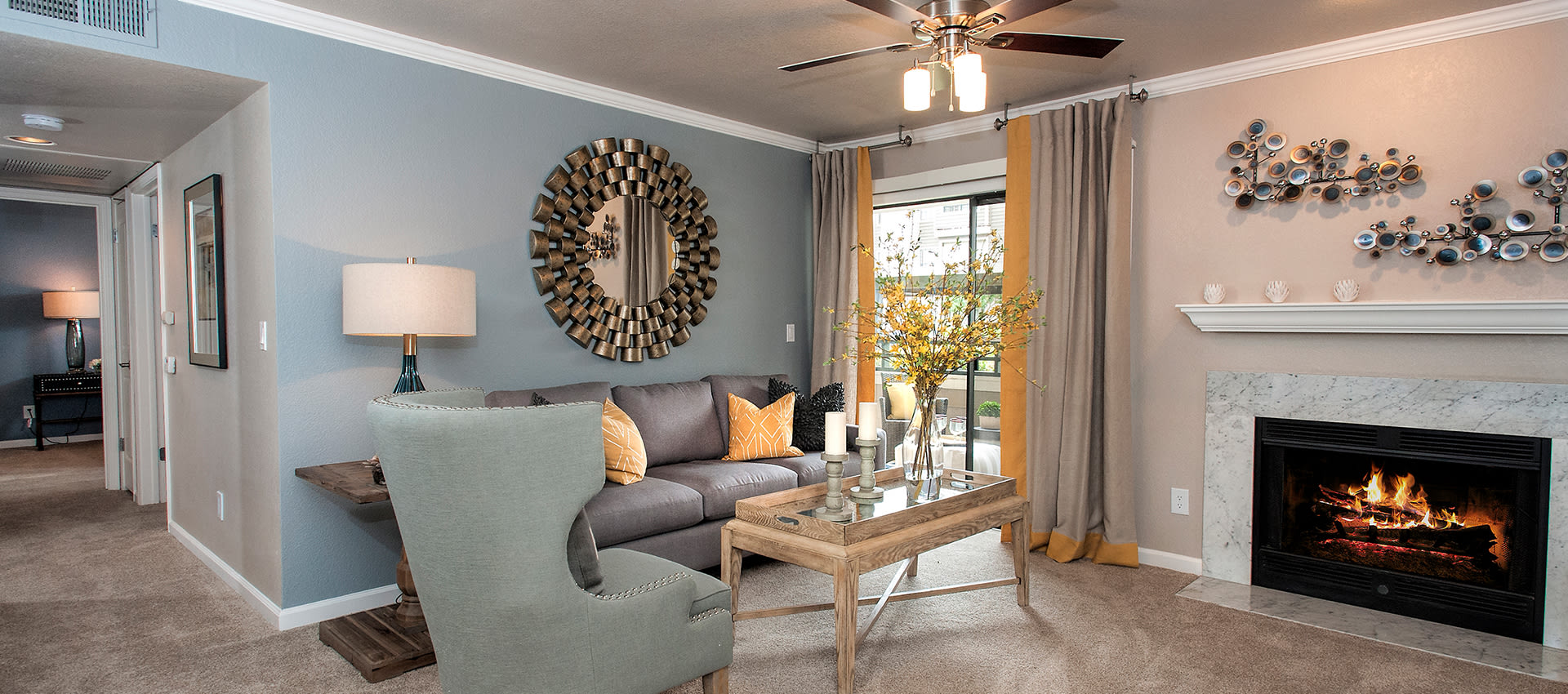 Living Room at Reserve at Capital Center Apartment Homes in Rancho Cordova, CA