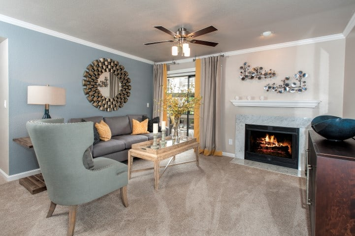 Spacious Living Room at Reserve at Capital Center Apartment Homes