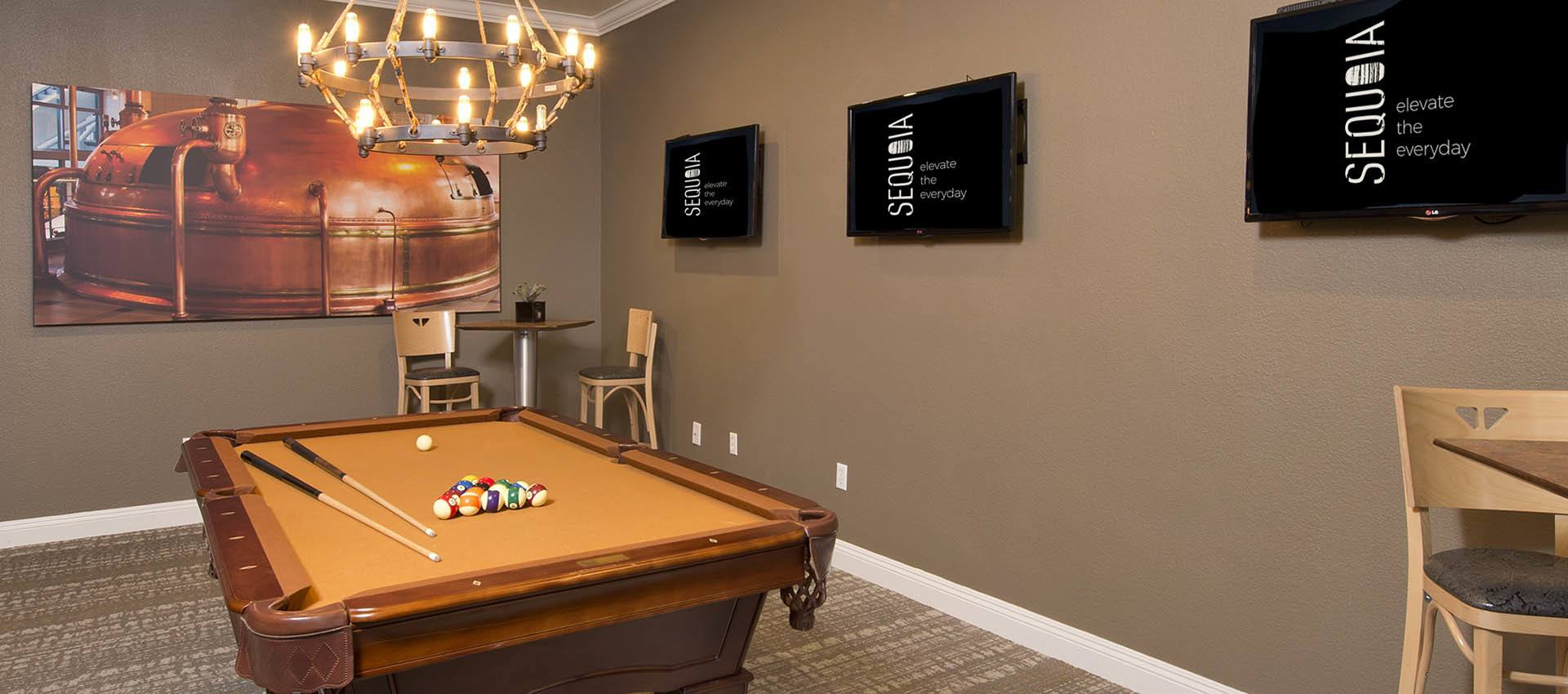Billiards at River Oaks Apartment Homes in Vacaville