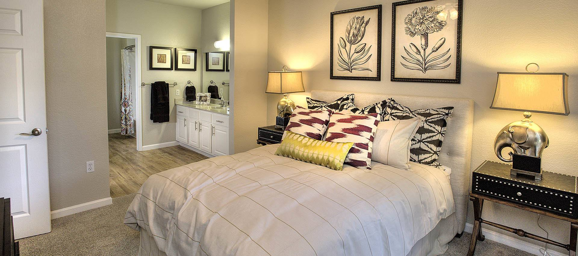 Spacious Bedroom at River Oaks Apartment Homes in Vacaville