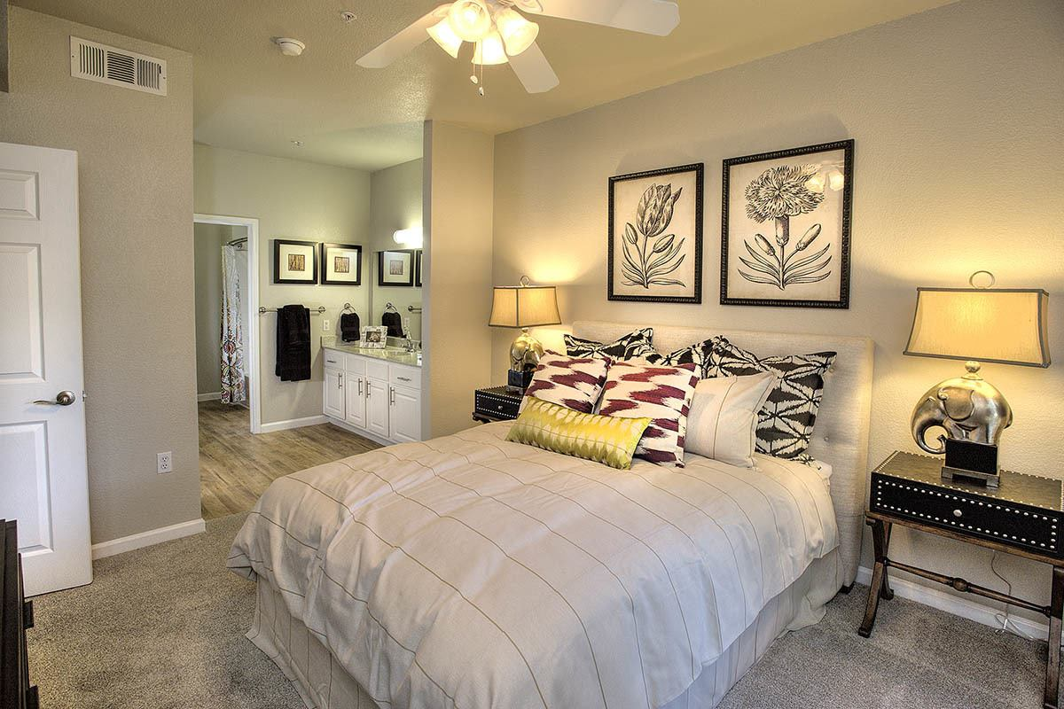 Spacious Master Bedroom at River Oaks Apartment Homes in Vacaville