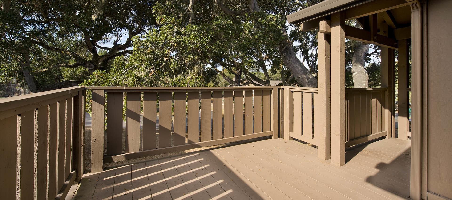 Apartment With Large Deck at Seventeen Mile Drive Village Apartment Homes in Pacific Grove