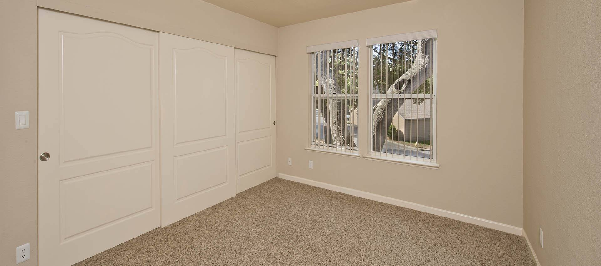Bedroom With Large Closet at Seventeen Mile Drive Village Apartment Homes in Pacific Grove