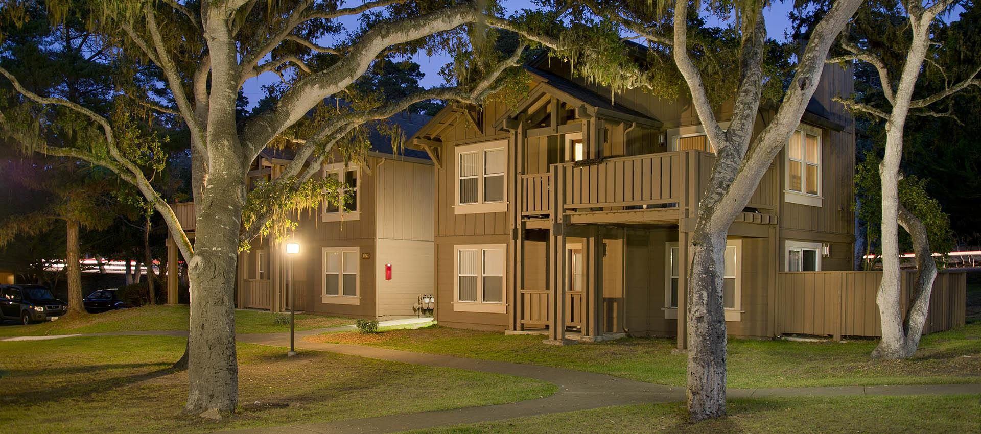 Exterior Of Apartment With Grass at Seventeen Mile Drive Village Apartment Homes in Pacific Grove