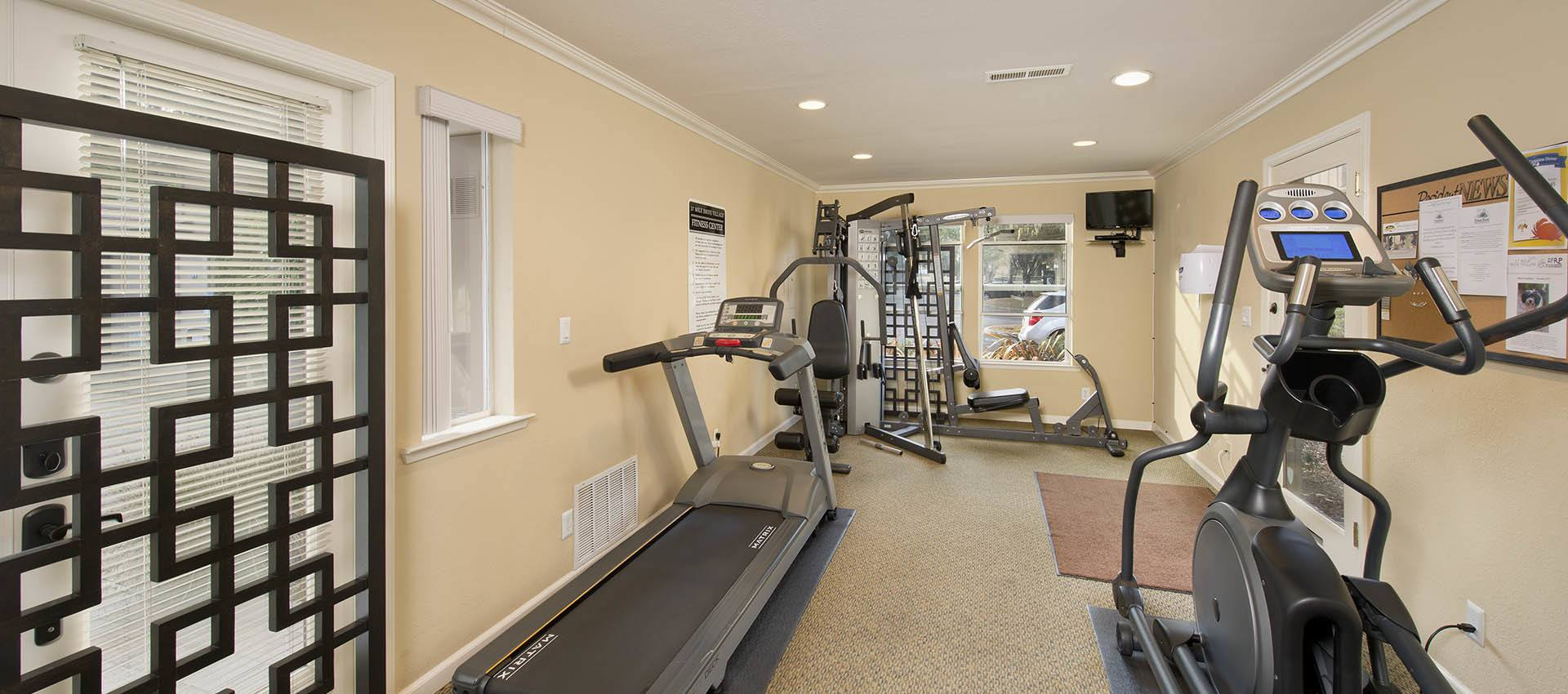 Fitness Center at Seventeen Mile Drive Village Apartment Homes in Pacific Grove