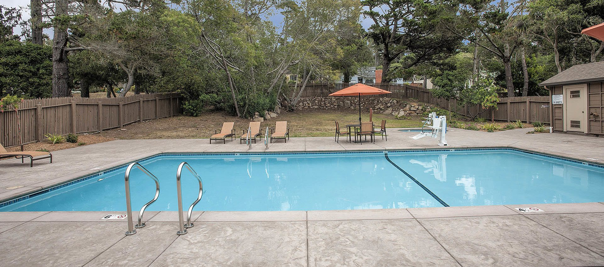 Large Clean Pool at Seventeen Mile Drive Village Apartment Homes in Pacific Grove