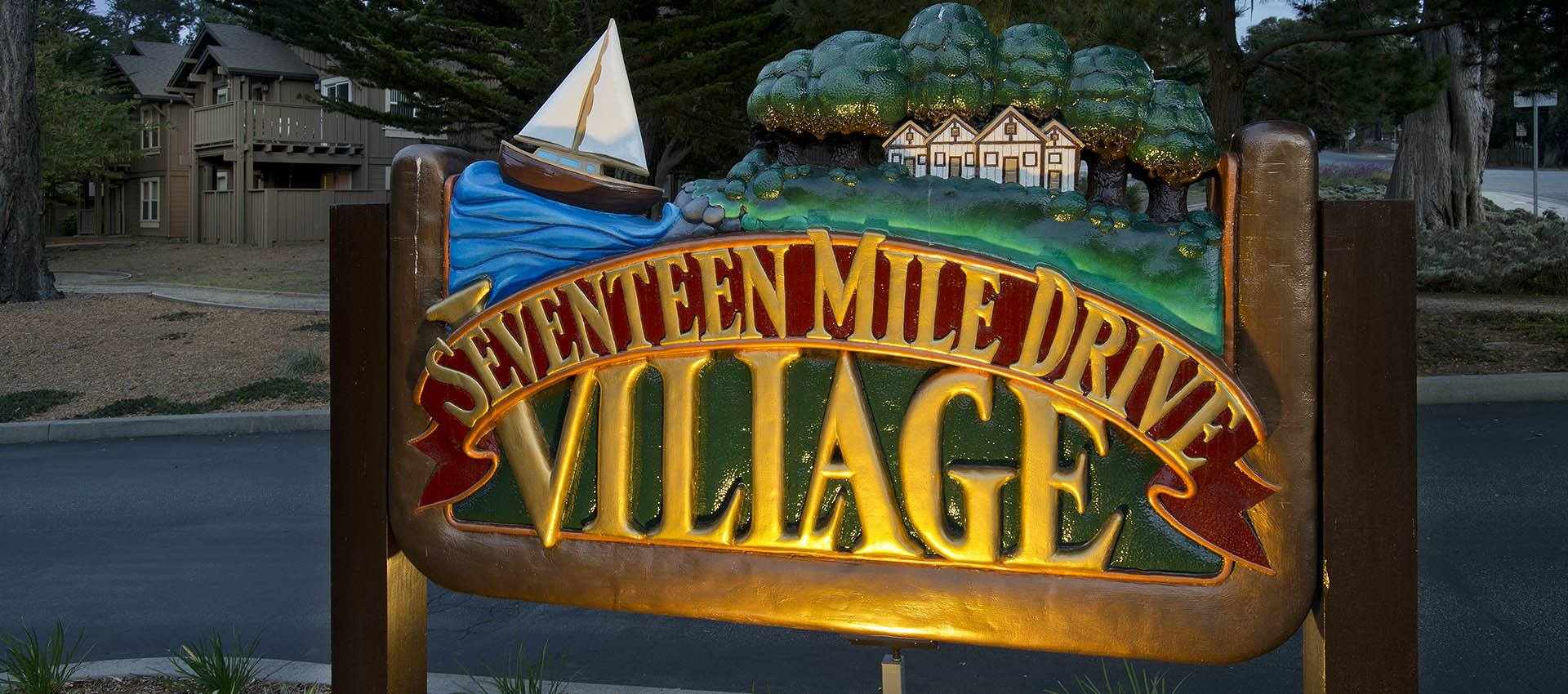 Signage at Seventeen Mile Drive Village Apartment Homes in Pacific Grove