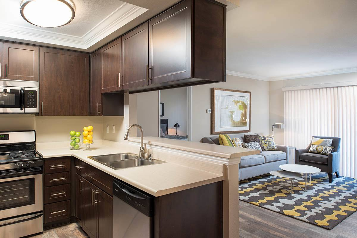 Luxury dining room layout at apartments in Simi Valley