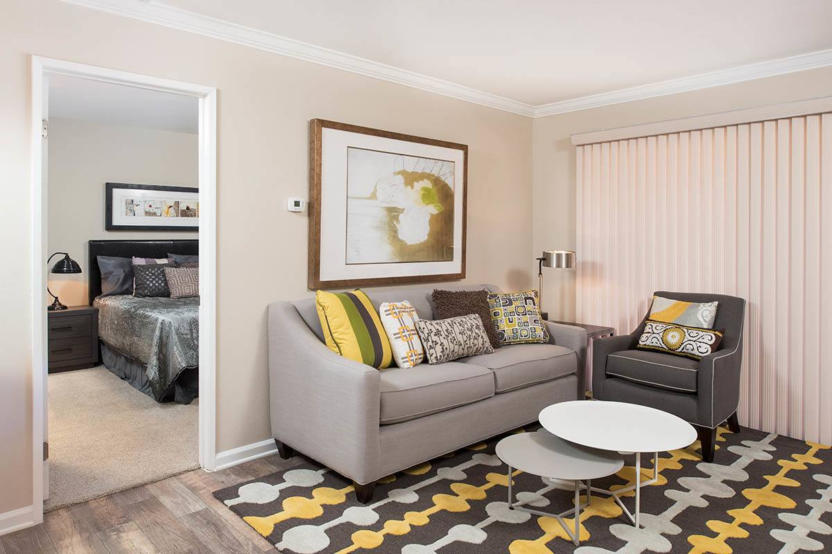 Luxury living room layout at apartments in Simi Valley