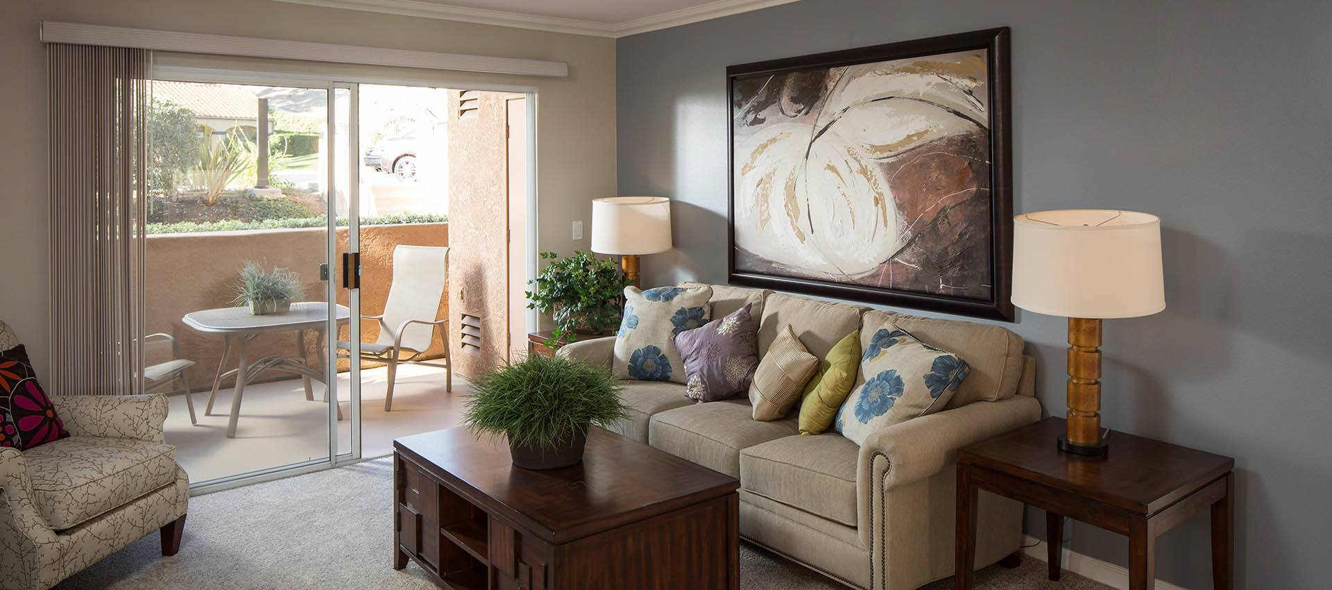 Spacious living room at Shadow Ridge Apartment Homes in Simi Valley, CA