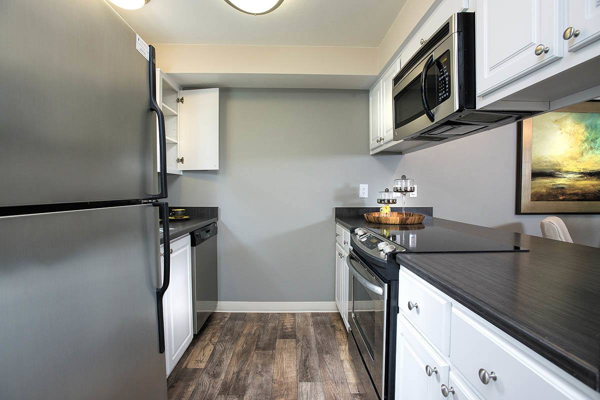 Kitchen layout at apartments in Vancouver, WA