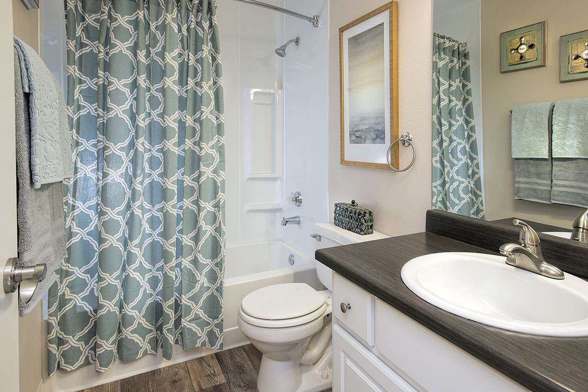 Bathroom layout at apartments in Vancouver, WA