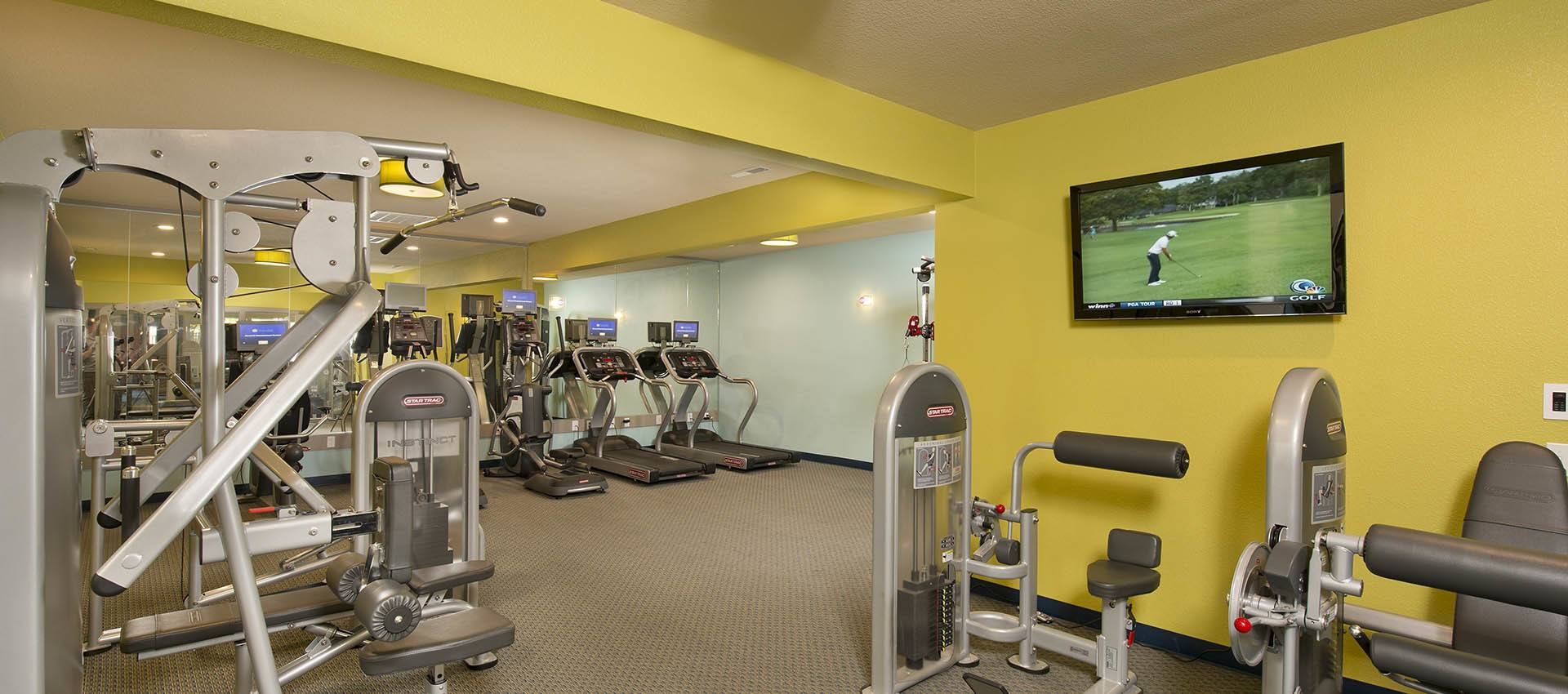 Fitness center at apartments in Vancouver, WA