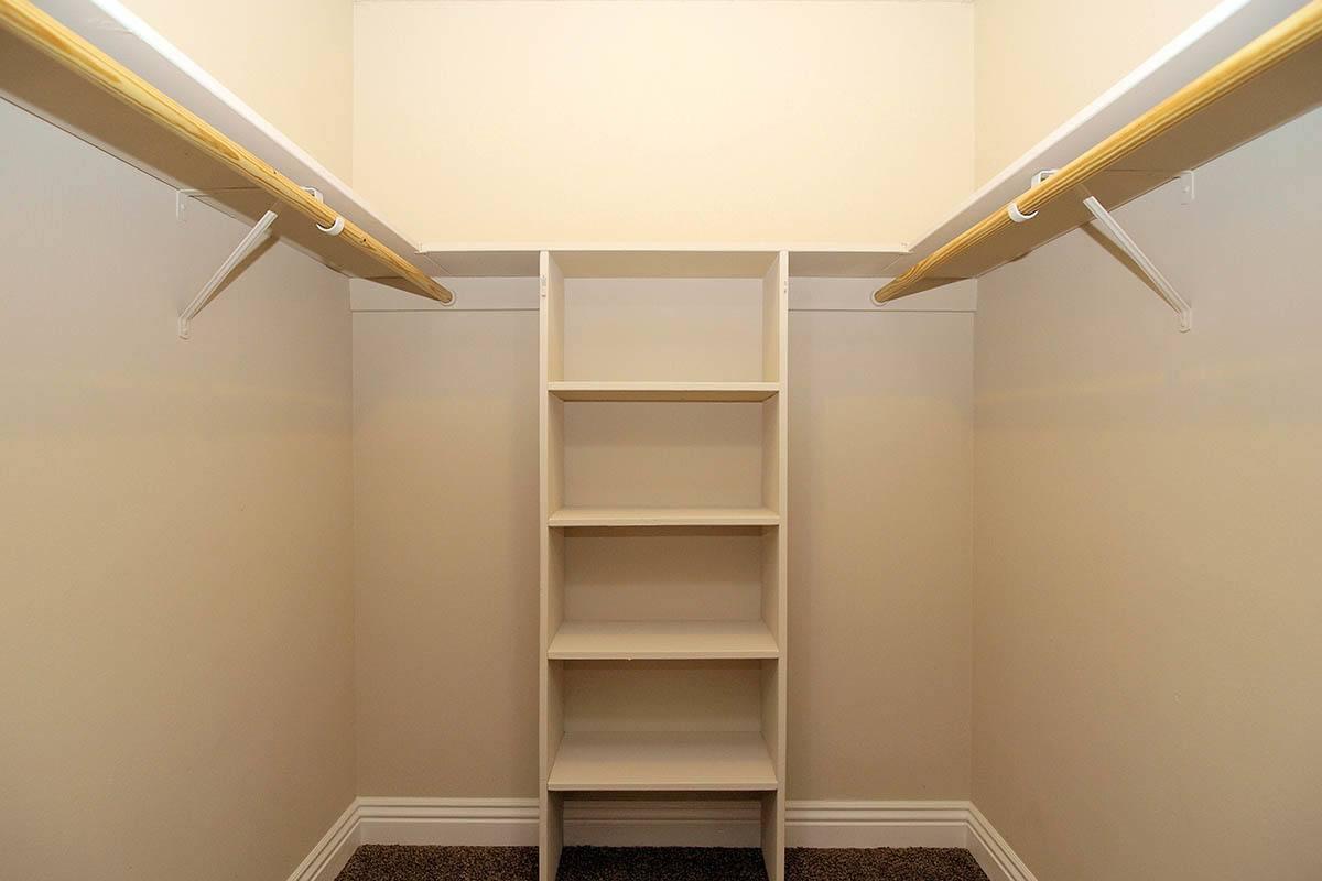 Ample closet space at apartments in Santa Rosa