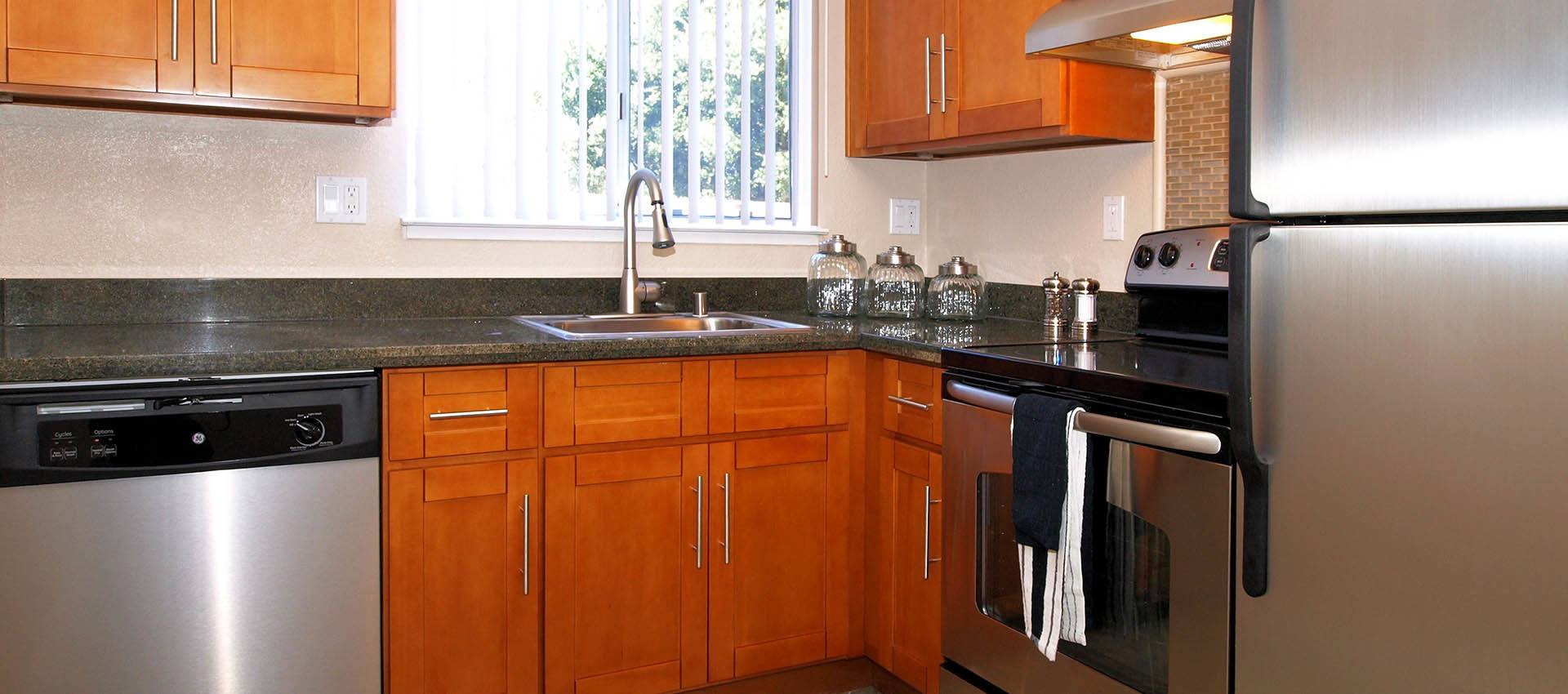 Kitchen at Spring Lake Apartment Homes in Santa Rosa, California