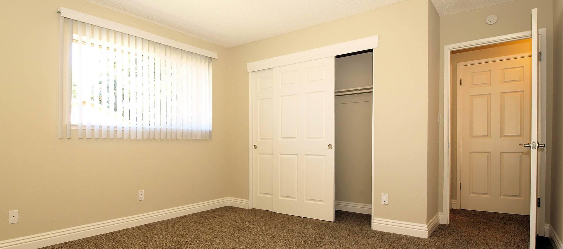Bedroom at apartments in Santa Rosa, CA
