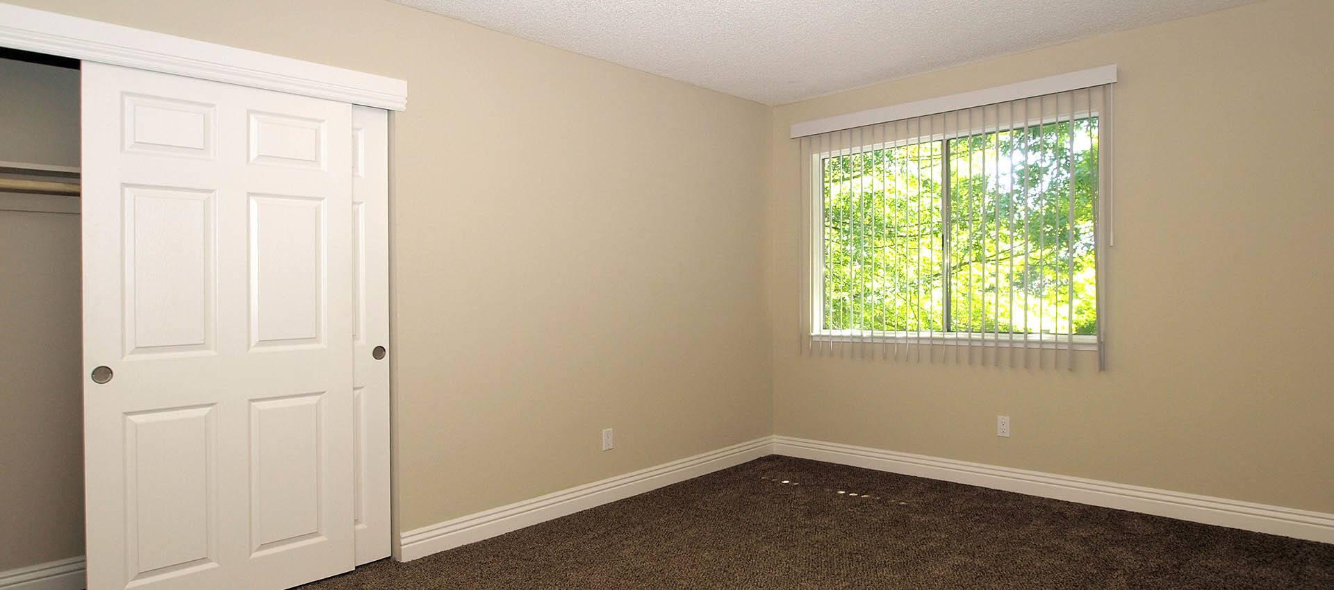 Bedroom and closet at Spring Lake Apartment Homes in Santa Rosa, CA