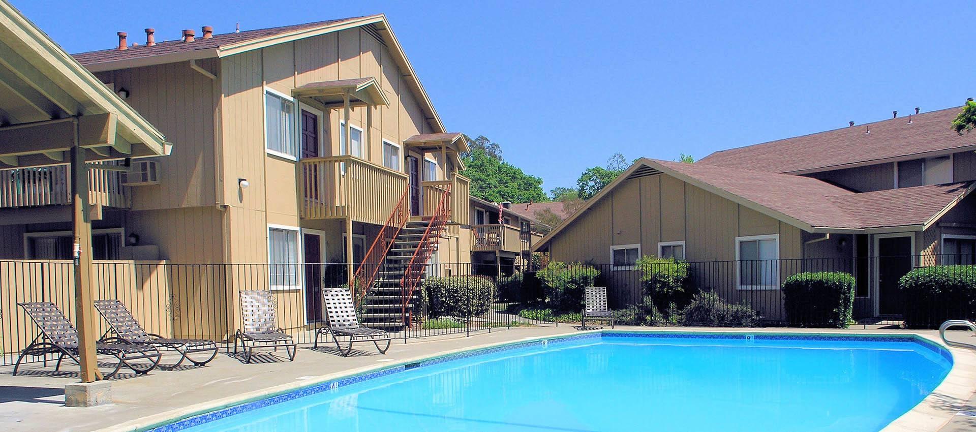 Pool deck at Spring Lake Apartment Homes