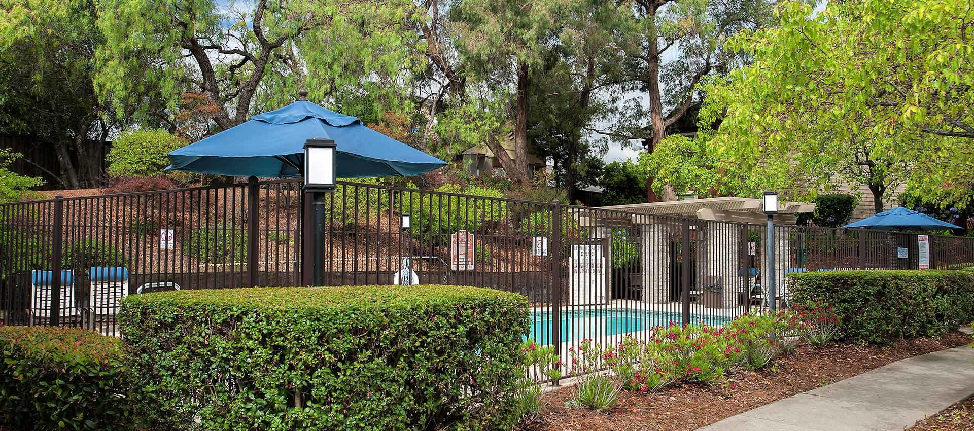 Pool Deck at Sterling Heights Apartment Homes in Benicia