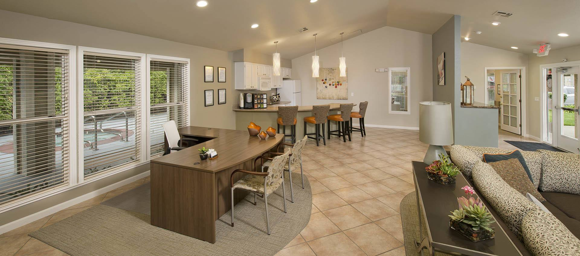 Resident Clubhouse With Kitchen at Sterling Heights Apartment Homes in Benicia