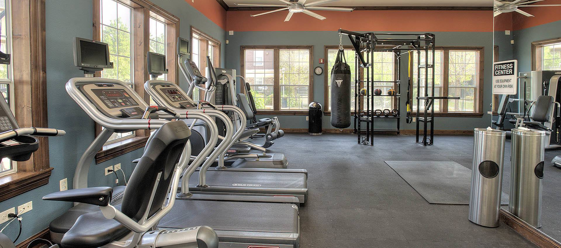 24-Hour Fitness Center at The Vintage at South Meadows Condominium Rentals in Reno