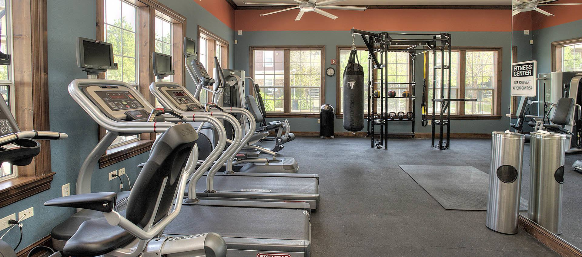 Exceptional fitness center at The Vintage at South Meadows Condominium Rentals in Reno