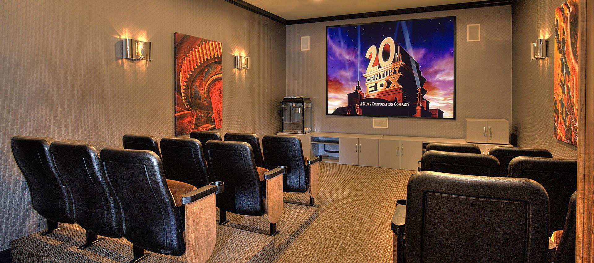 Movie theater at The Vintage at South Meadows Condominium Rentals in Reno
