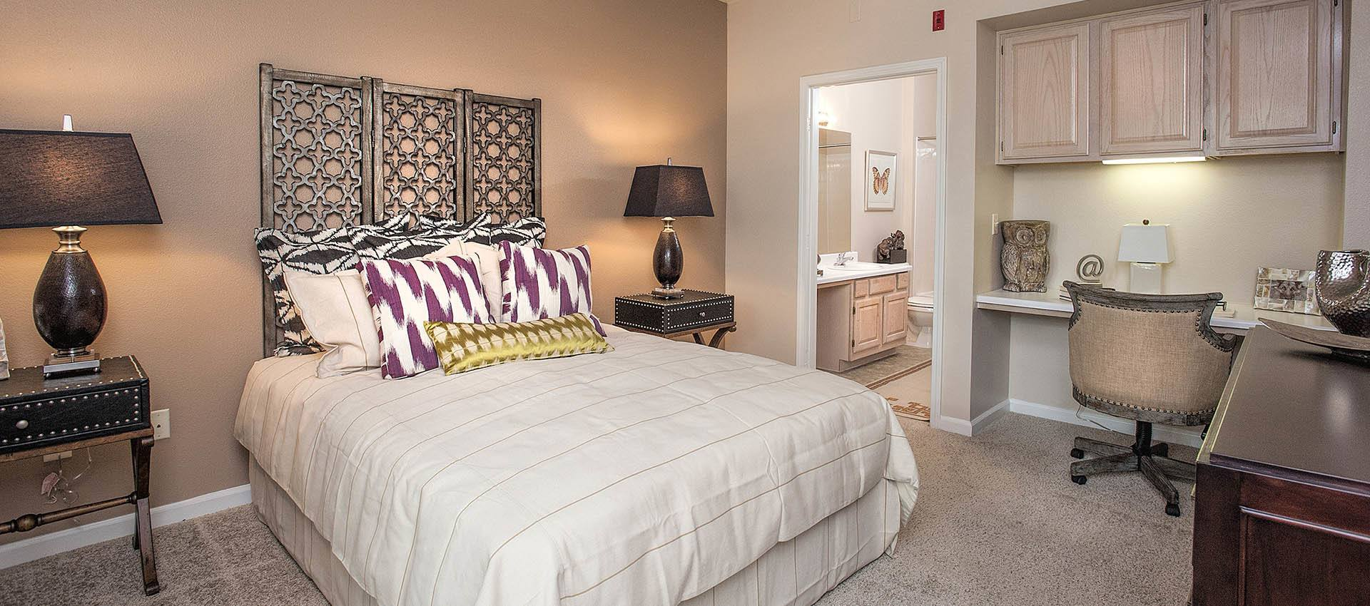 Master bedroom luxury kitchen at The Vintage at South Meadows Condominium Rentals in Reno
