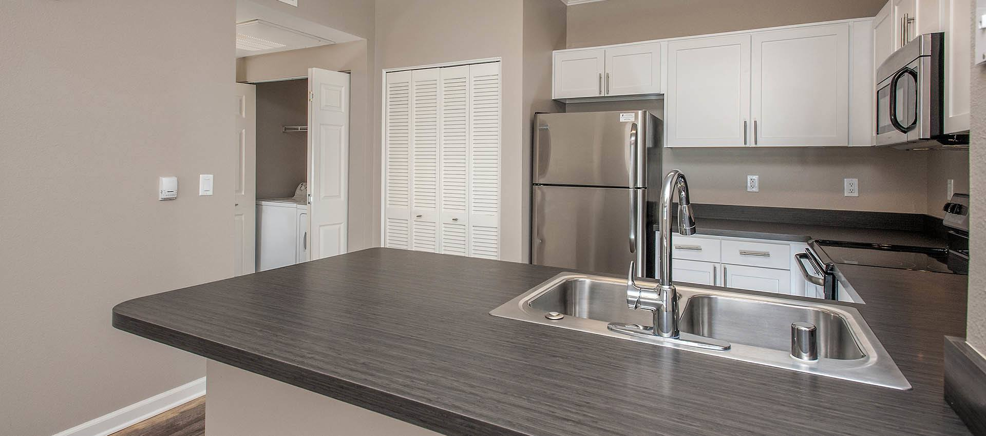 upgraded kitchen at The Vintage at South Meadows Condominium Rentals in Reno