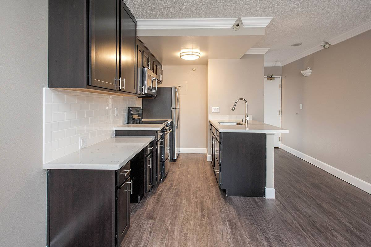 Open Kitchen at Tower 737 Condominium Rentals in San Francisco