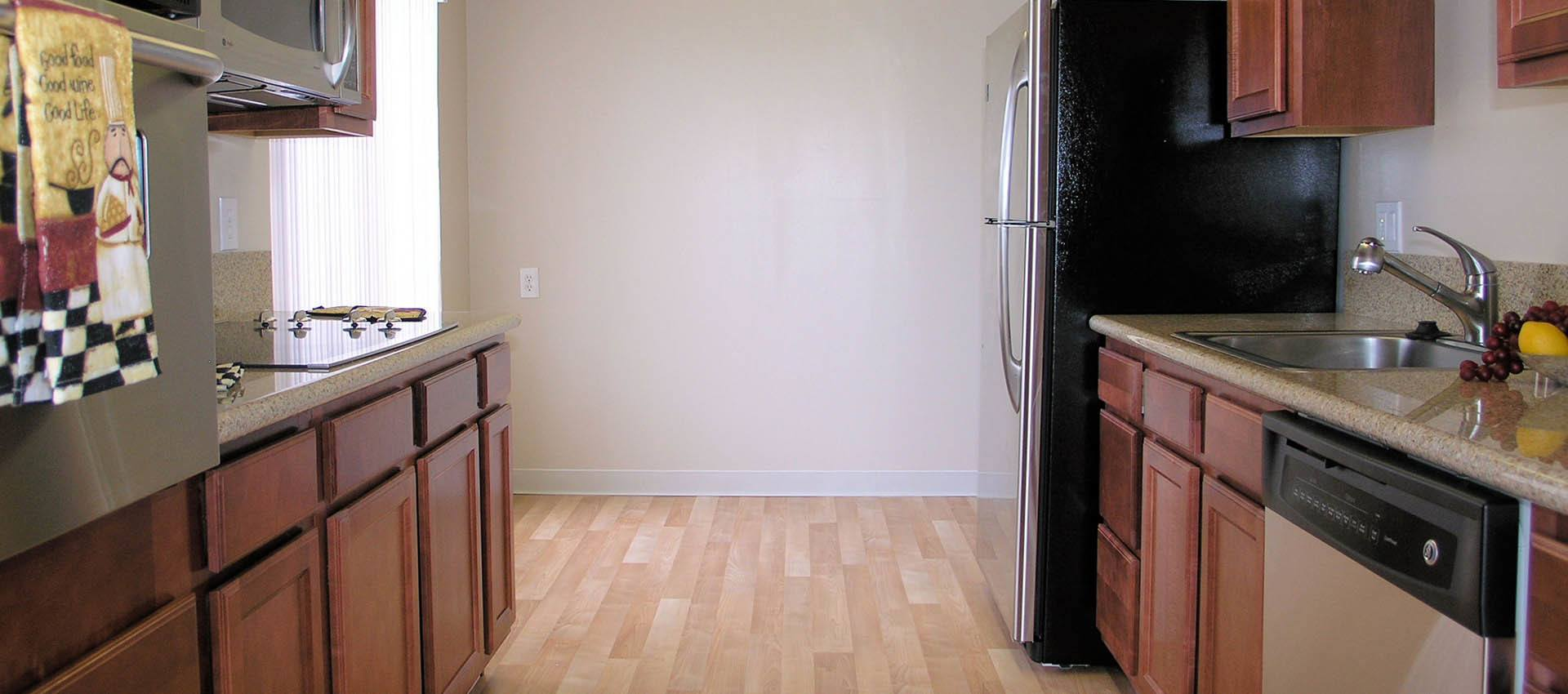 Hardwood floors at apartments in Alameda, CA