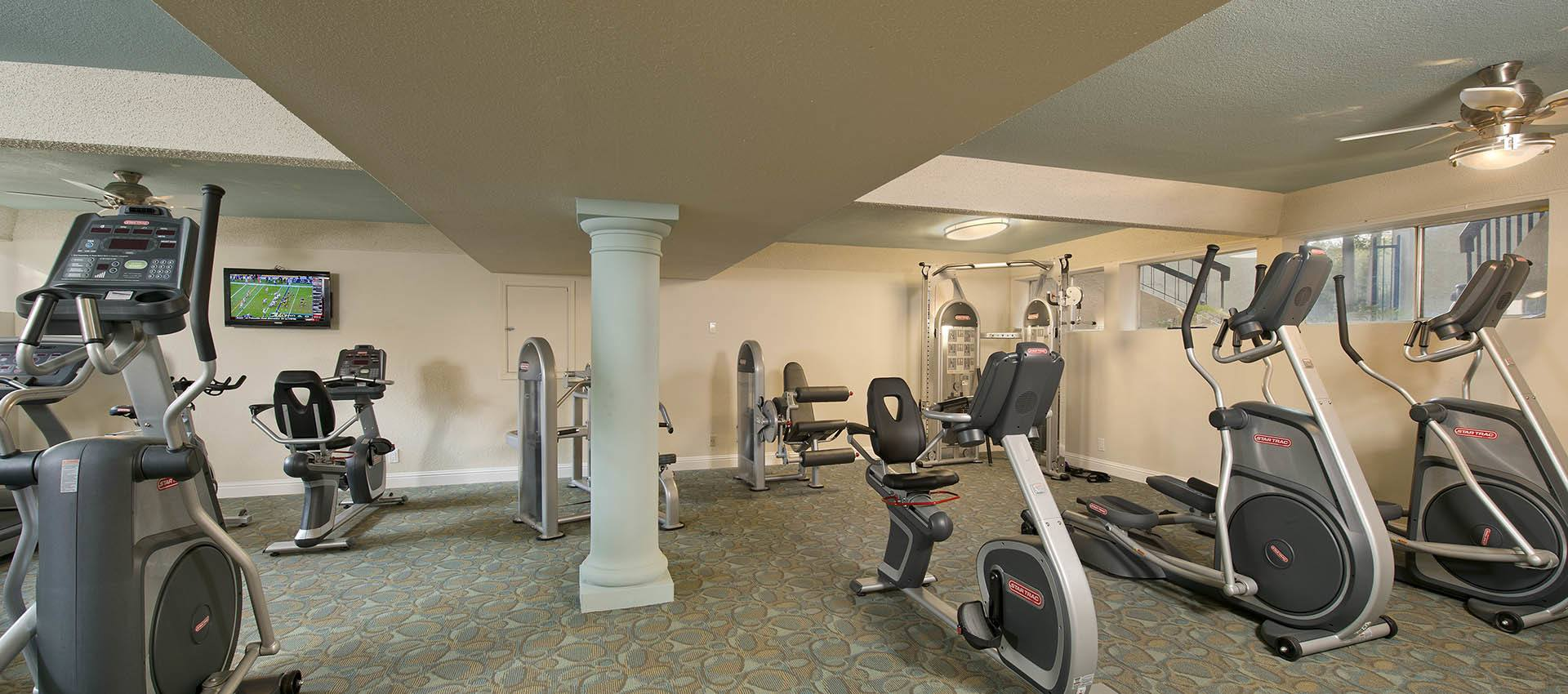 Fitness center at Atrium Downtown in Walnut Creek, California