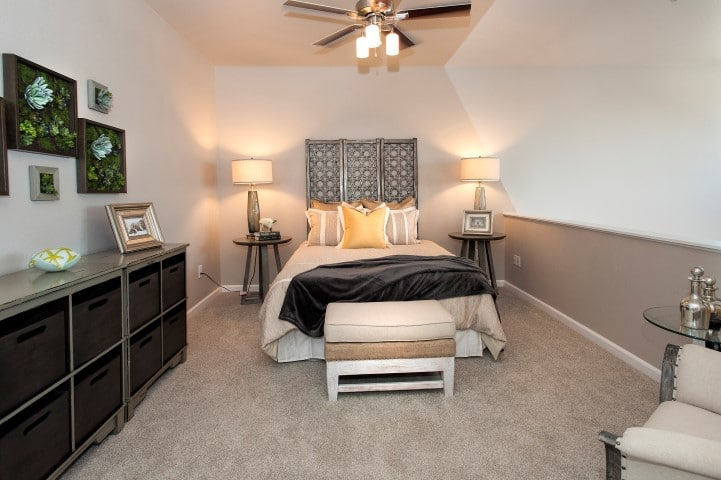Bedroom at Venu at Galleria Condominium Rentals in Roseville