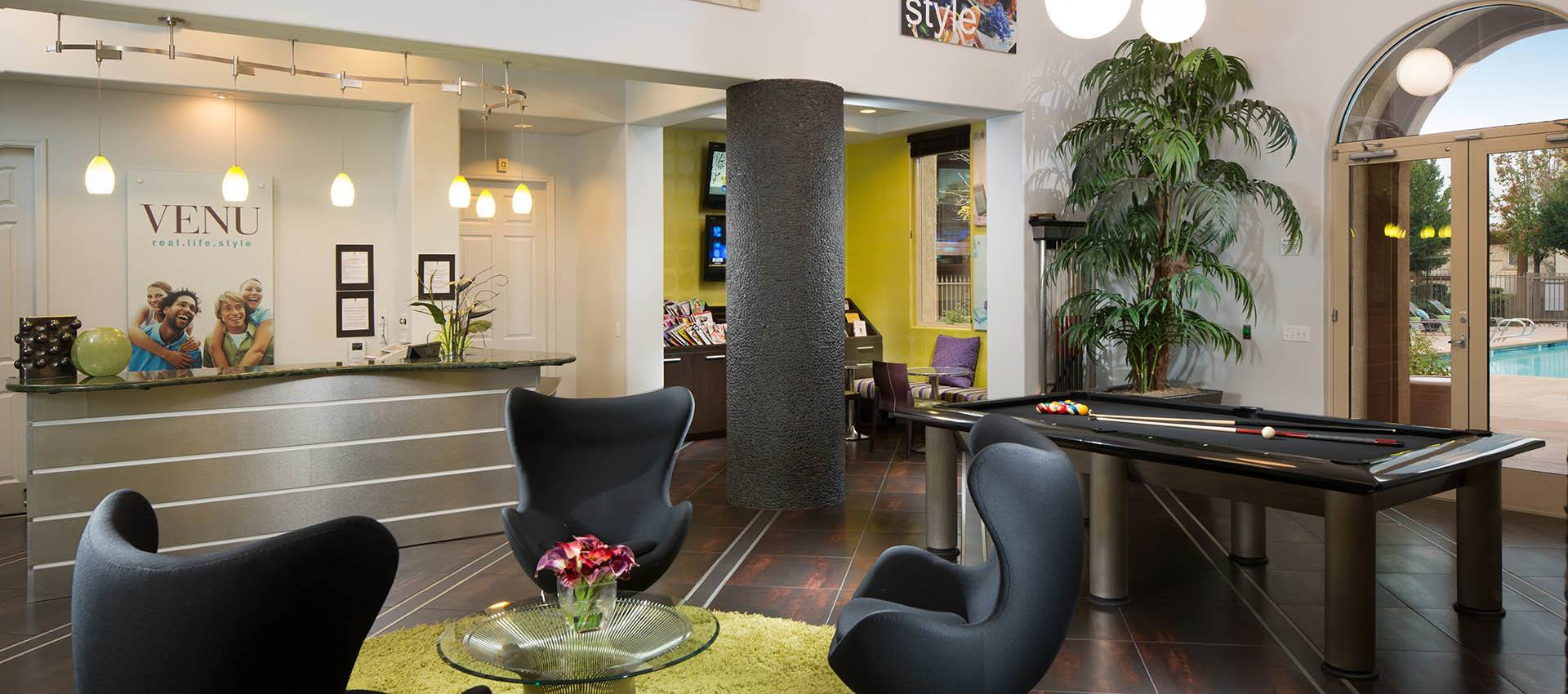 Clubhouse at Venu at Galleria Condominium Rentals in Roseville, CA