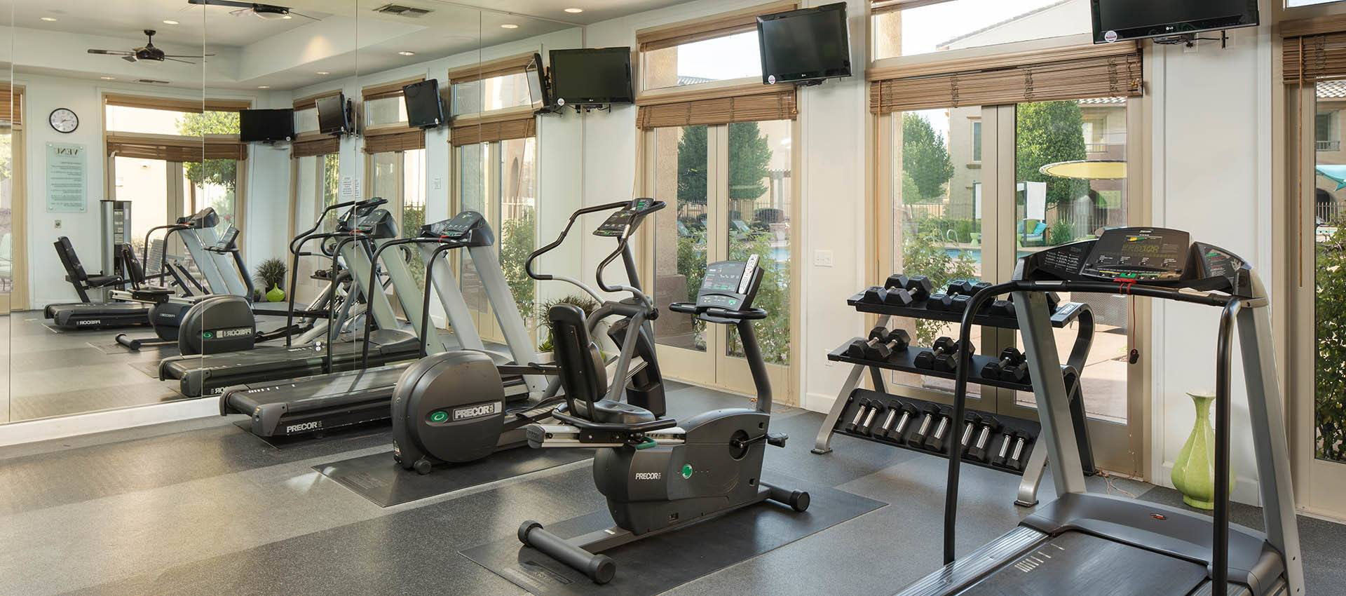 Fitness Center at Venu at Galleria Condominium Rentals in Roseville , California