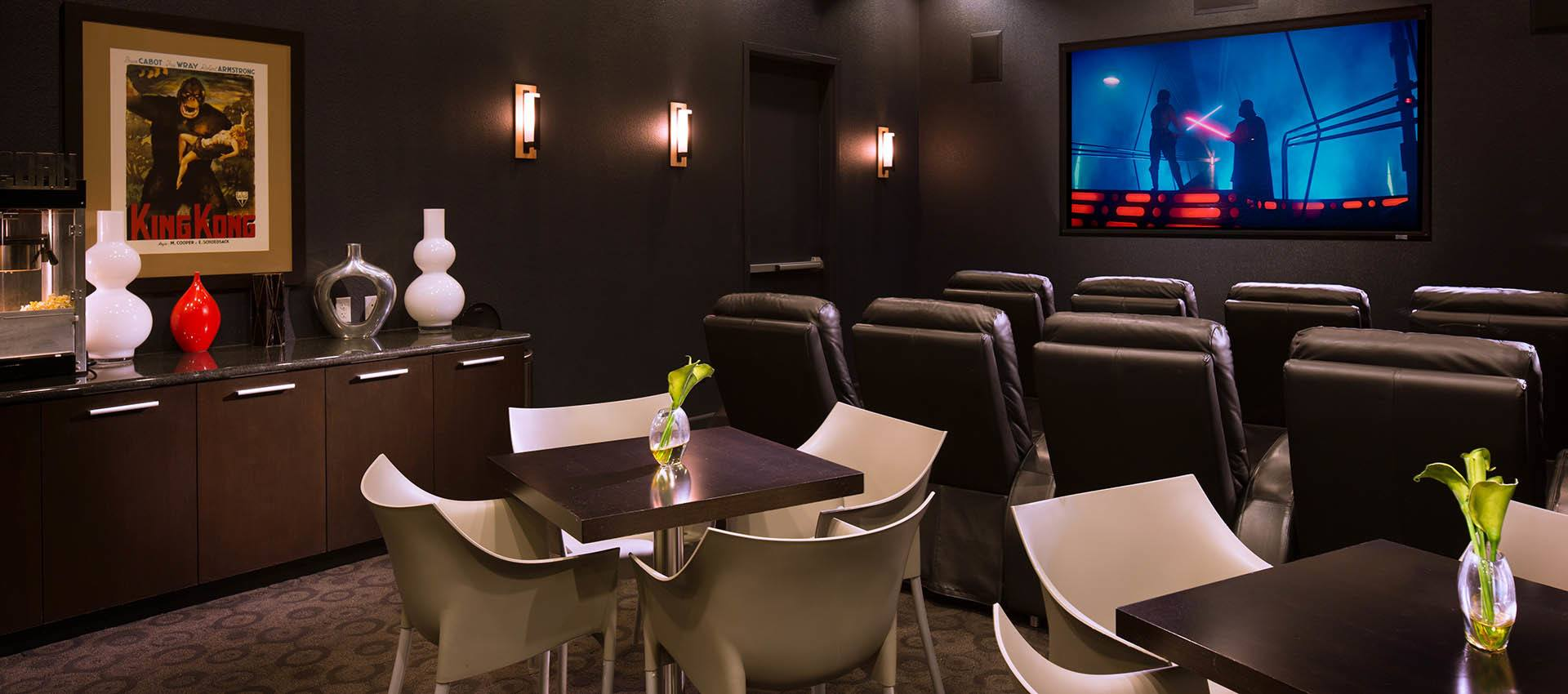Movie Theater at Venu at Galleria Condominium Rentals in Roseville , California