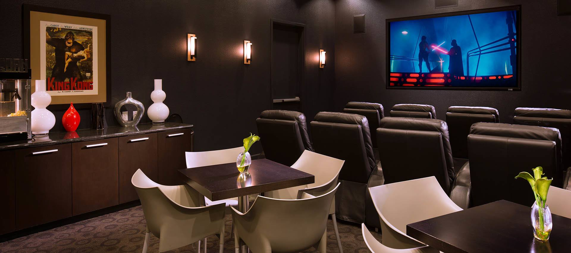 Theater at Venu at Galleria Condominium Rentals in Roseville, CA